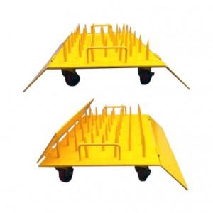 스틸 철심바리게이트 -바퀴부착