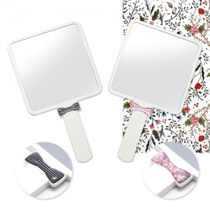 자개리본거울(중)백색