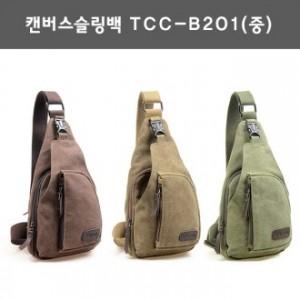 캔버스슬링백 TCC-B201(중)/캔버스가방.힙색.보조가방