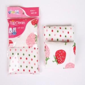 탑크린 면행주 딸기/땡땡이 2p