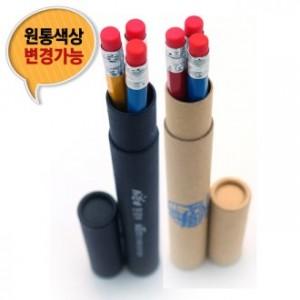 무지개 육각지우개연필 3본입세트