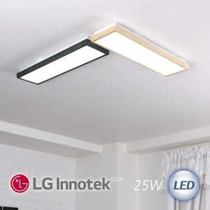 LED 로뎅 주방 1등 소 25W (블랙 / 원목 2가지 색상)