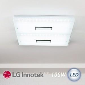 LED 히트 직사각 거실등 100W (화이트)