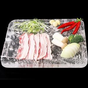 고기가 타지않는 원적외선 천연보석 수정피아 수정불판-사각400x300mm 그릴 오븐 조리