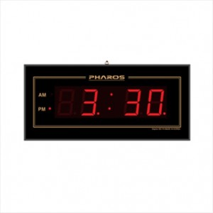 디지털 전파 수신벽시계 ESF400 12시간용 670x310x30mm