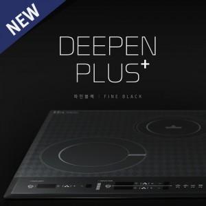 DEEPEN PLUS+ 3구 컬러 하이브리드 인덕션 하이라이트 전기레인지 파인블랙