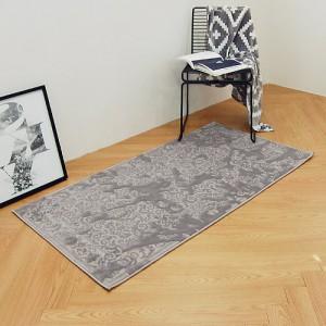 터빈 터키산 10mm 디자인카페트 MA3318-1481 (80x150cm)그레이/침실러그/침대/사계절