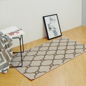 베일 터키산 10mm 디자인카페트 MA2378-2480(80x150cm)브라운/침실러그/침대/사계절