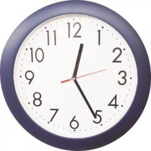 370-(무소음)-군청 시계