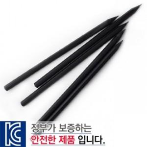 흑목육각미두연필