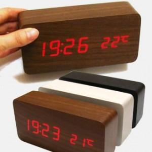 우드탁상시계/디지털시계달력-시계온도계 동시에~