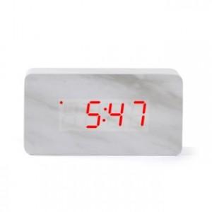 [탁상시계/전자시계] 대리석시계(직각)_화이트