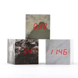 [탁상시계] LED 마블탁상시계/마블큐브시계/대리석시계(큐브)