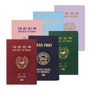 파스텔 누박 여권 케이스
