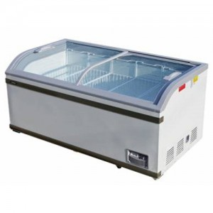 씽씽코리아라운드형 냉동 쇼케이스 418L XS-700Y