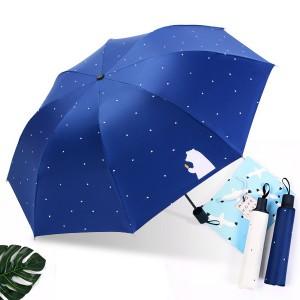 감성곰 기능성 양우산 자외선차단 3단 우산 리버설