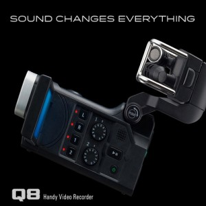 [ZOOM Q8] 고해상도 HD비디오 4트랙 오디오레코더 마이크교체 고해상도 사운드 액션캠 마운트지원