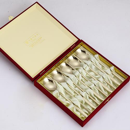 805. 제노바 송학 티타늄 수저 선물세트 5벌(비단케이스)