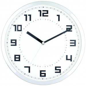 JS-3308 크롬무소음벽시계(벽걸이시계)