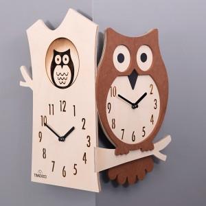 Owl Corner Clock