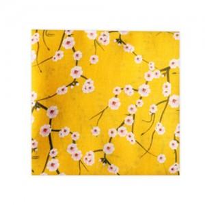 가제스카프 잔꽃무늬노랑 스카프