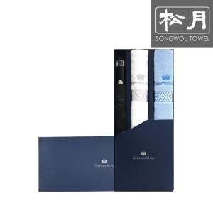 [송월 우산선물세트]카운테스마라 2단우산 폰지바이어스 1p + 맥스 세면타월 2p