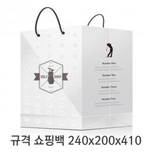 규격 칼라 코팅 쇼핑백 123호