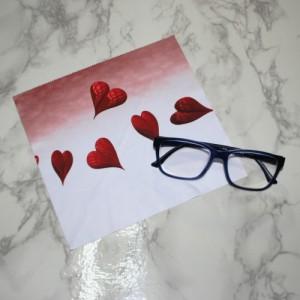 하트 디자인 안경닦이/전사클리너(15 x 18 cm)맞춤주문제작