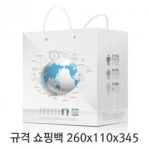 규격 칼라 코팅 쇼핑백 125호