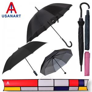 우산아트 55컬러곡자+2단실버+3단실버 우산3P세트