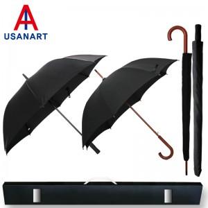 우산아트 70폰지무지+60우드곡자손 우산2P세트