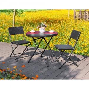 브로몰딩 접이식 테이블의자세트 (접이식테이블 1개, 접이식의자 2개) RYC-018