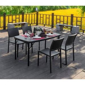 브로몰딩 접이식 테이블의자세트 (접이식테이블 1개, 등받이의자 4개) RYC-021가격:266,000원