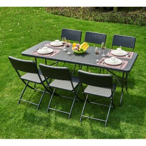 브로몰딩 접이식 테이블의자세트 (접이식테이블 1개, 접이식의자 6개) RYC-023가격:297,000원