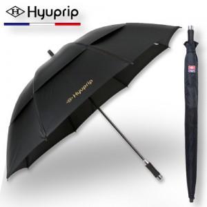 협립 77 이중방풍 블랙 수동 골프우산