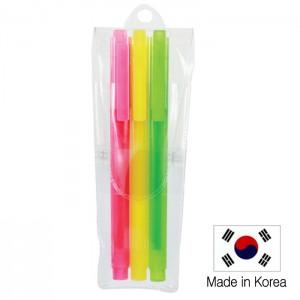 스타사각 형광펜 3P세트