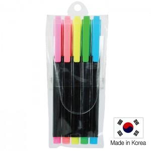 스타사각 형광펜 5p 세트 (불투명)