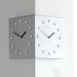크리스탈 코너벽시계 실버(Crystal Corner Silver)