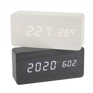 R1299 직각 우드 LED탁상시계