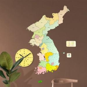 [나룸] DWM-004 대한민국 지도와 무소음 벽시계