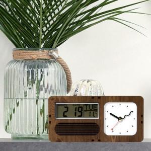 [나룸]RTC-003 레트로 캘린더&온도 탁상시계(무소음)