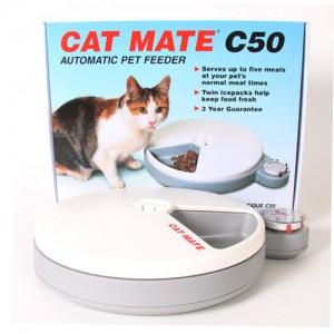 캣메이트 고양이 강아지 자동급식기 5구 (C50) 아이스팩 세트