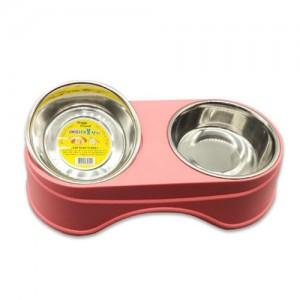 에띠 다채무늬 강아지 고양이 더블식기 핑크가격:8,000원