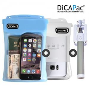 디카팩 스마트폰 방수팩+유선셀카봉 SET(2+1) 필수 패키지