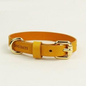 프리미엄 강아지 가죽목줄 엘로우 (XS,S,M,L)가격:20,000원