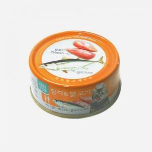 고양이캔 캐츠랑 고메디쉬 캔 참치&닭고기 90g가격:2,000원