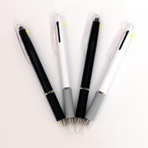 루네 불투명 형광+니들2색 볼펜