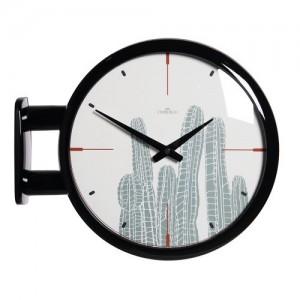 모던 양면벽시계 - 선인장(블랙) /Morden Double Clock Cactus(BK)