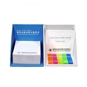 큐브박스메모함+투명케이스형(=풀칼라필름지20매)