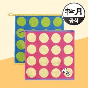 송월타월 스누피 컬러도트36
